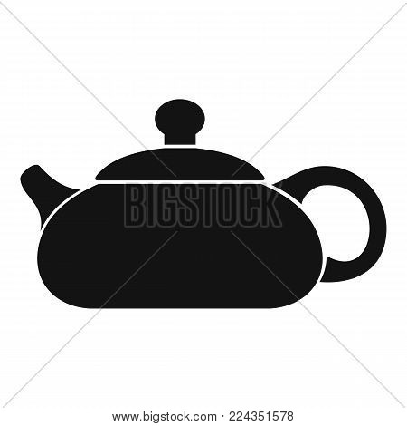 Teapot icon. Simple illustration of teapot vector icon for web