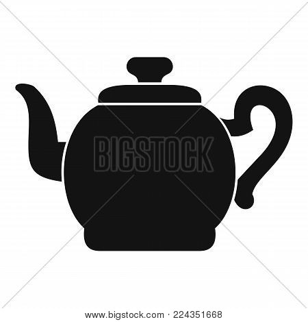 Teapot with cap icon. Simple illustration of teapot with cap vector icon for web