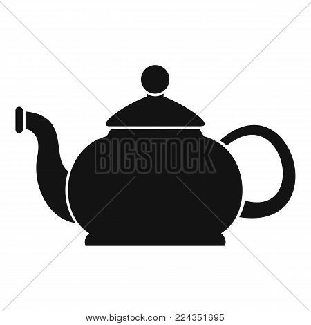 Closed teapot icon. Simple illustration of closed teapot vector icon for web