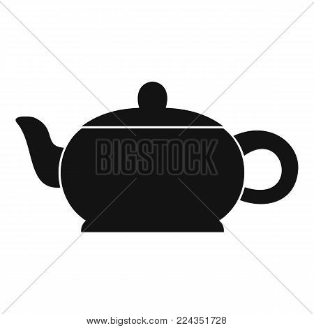 Hot teapot icon. Simple illustration of hot teapot vector icon for web