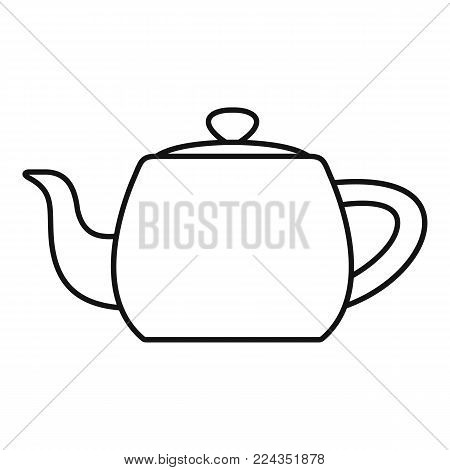 Metal teapot icon. Outline illustration of metal teapot vector icon for web