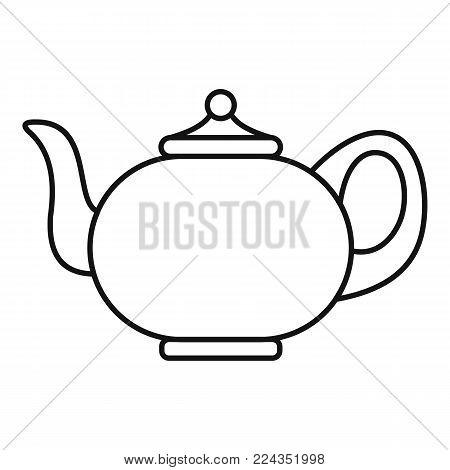 Kitchen teapot icon. Outline illustration of kitchen teapot vector icon for web