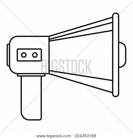 Single megaphone icon. Outline illustration of single megaphone vector icon for web