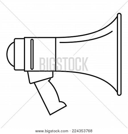 Portable megaphone icon. Outline illustration of portable megaphone vector icon for web