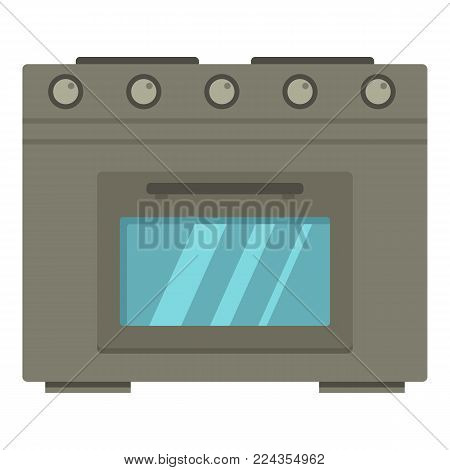 Gas oven icon. Cartoon illustration of gas oven vector icon for web