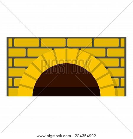 Brick oven icon. Cartoon illustration of brick oven vector icon for web