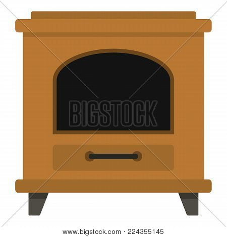 Ancient oven icon. Cartoon illustration of ancient oven vector icon for web