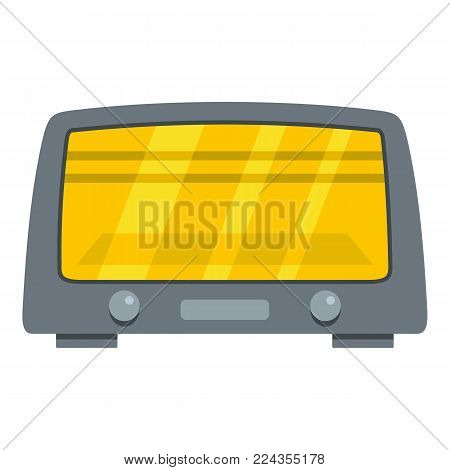 Microwave oven icon. Cartoon illustration of microwave oven vector icon for web