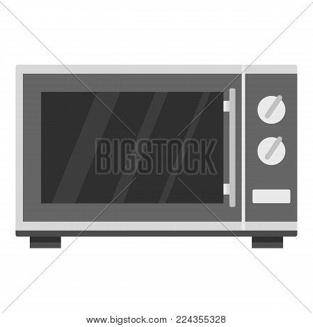 Kitchen microwave oven icon. Cartoon illustration of kitchen microwave oven vector icon for web