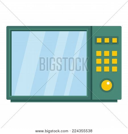 Electrical microwave oven icon. Cartoon illustration of electrical microwave oven vector icon for web