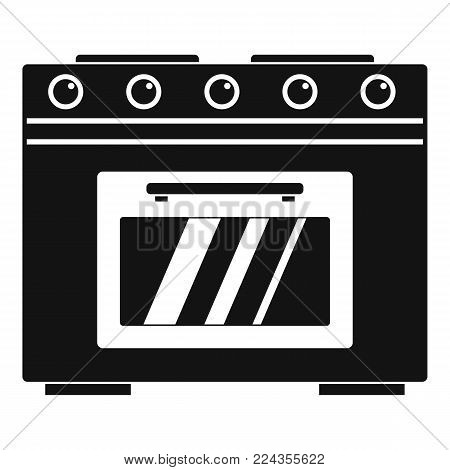 Gas oven icon. Simple illustration of gas oven vector icon for web