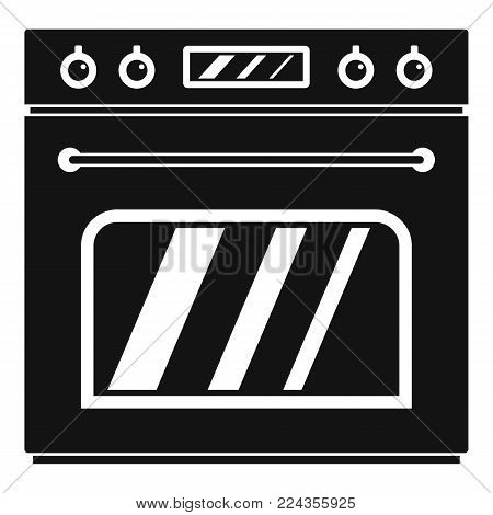 Big gas oven icon. Simple illustration of big gas oven vector icon for web