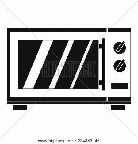 Kitchen microwave oven icon. Simple illustration of kitchen microwave oven vector icon for web