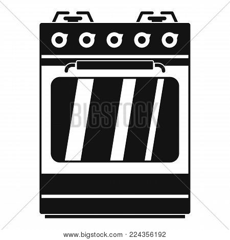 Small gas oven icon. Simple illustration of small gas oven vector icon for web
