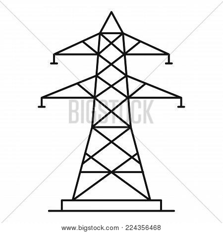 Energy pole icon. Outline illustration of energy pole vector icon for web