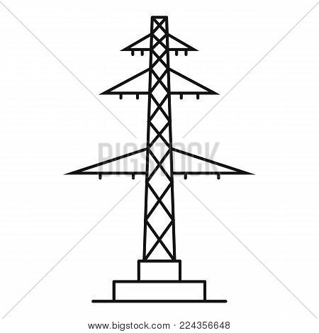 Telephone pole icon. Outline illustration of telephone pole vector icon for web