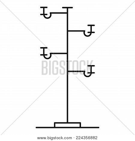 Wooden pole icon. Outline illustration of wooden pole vector icon for web