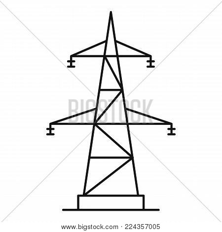 Electrical power station icon. Outline illustration of electrical power station vector icon for web