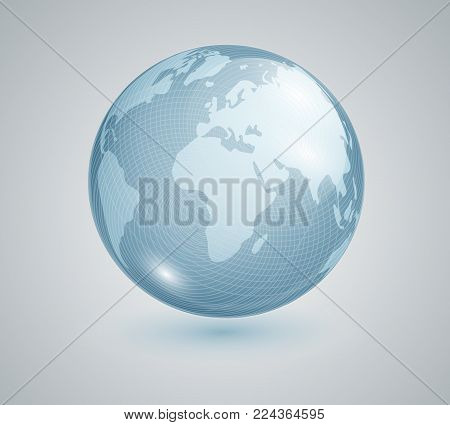 Glass ball world map vector photo free trial bigstock glass ball with world map earth geographic map globe vector banner gumiabroncs Choice Image