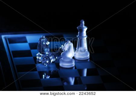 Chess in black showing the art of lighting poster