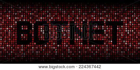 Botnet text on hex code illustration
