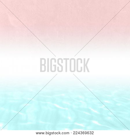 Pastel watercolor background with blue white pink gradient