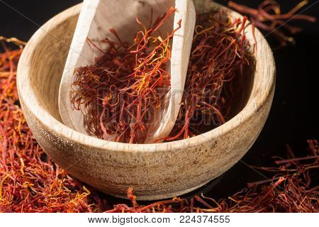 Macro Collection, Expensive Real Dried Saffron Spice Close Up