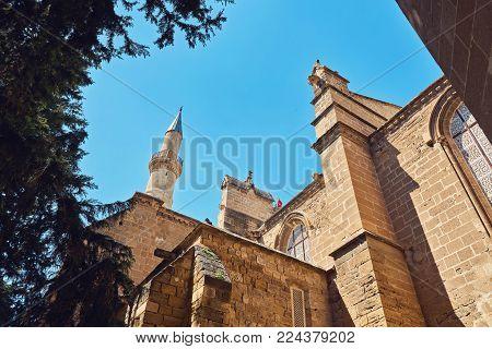 Selimiye Mosque, former Saint Sofia Church, Nicosia, Northern Cyprus