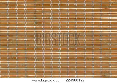 Bamboo venetian blinds on windows abstract background texture.