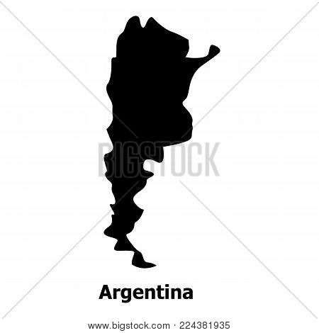 Argentina map icon. Simple illustration of argentina map vector icon for web