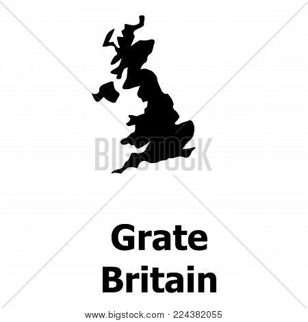 England map icon. Simple illustration of england map vector icon for web