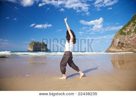 Bliss Woman In Ballota Beach