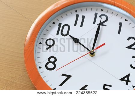 Focus time in clock of ten o'clock for the design in your business concept and design in your work.