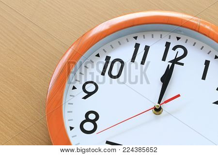 Focus time in clock of twelve o'clock for the design in your business concept and design in your work.