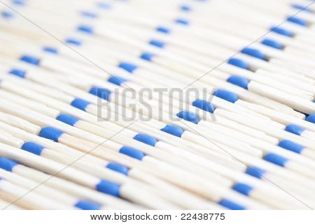 Pattern Of Blue Headed Matches