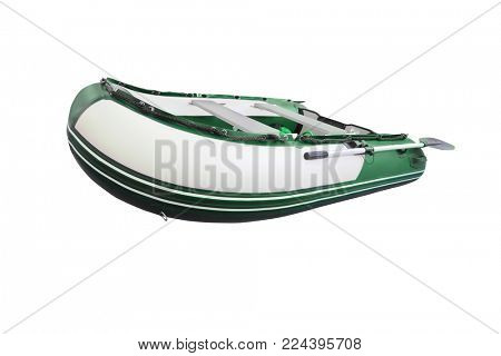 nflatable boat under the white background