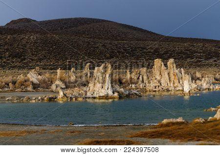 Tufas at Mono Lake in California