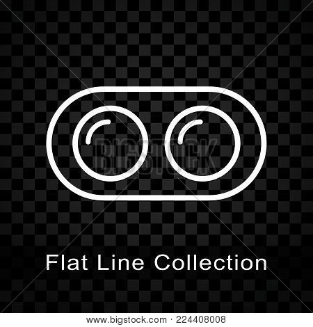 Illustration of dual camera icon on checkered background