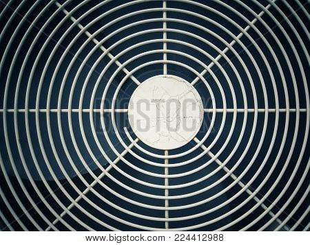 Front of air conditioning. Abstract textured and background.