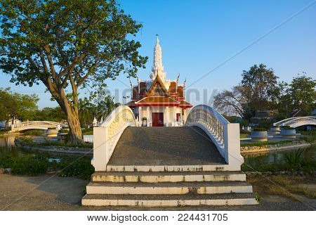 This Landmark building is City pillar of Phetchaburi province, Thailand. (Worship place)