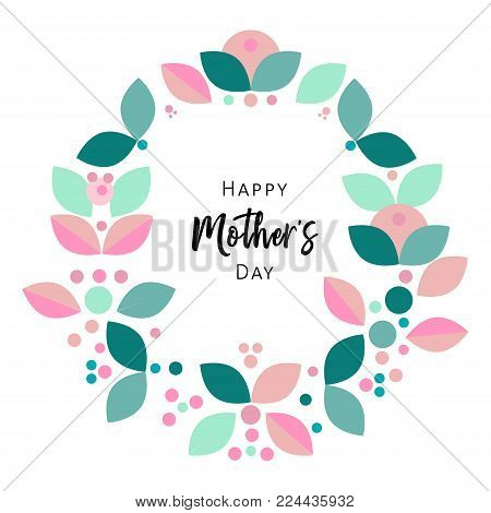 Beautiful Floral Frame or Floral Wreath Border. Cute decorative background for wedding invitations, greeting cards, birthday, etc. Vector illustration.