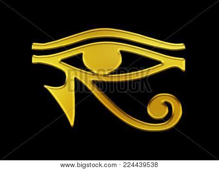 Eye of horus egyptian symbol background religion