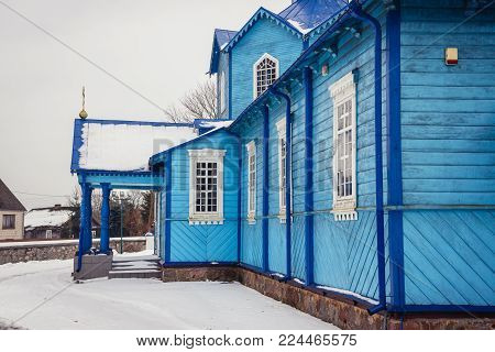 Exaltation of Holy Cross Orthodox church in Narew, small village in Podlasie region of Poland