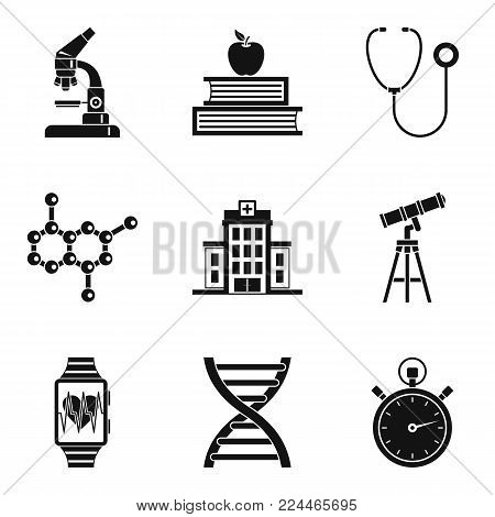 Lab icons set. Simple set of 9 lab vector icons for web isolated on white background