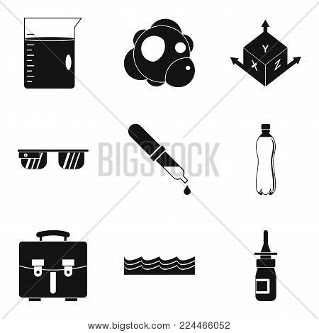 Laboratory conditions icons set. Simple set of 9 laboratory conditions vector icons for web isolated on white background