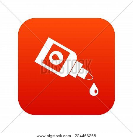 Bottle for eye drops icon digital red for any design isolated on white vector illustration