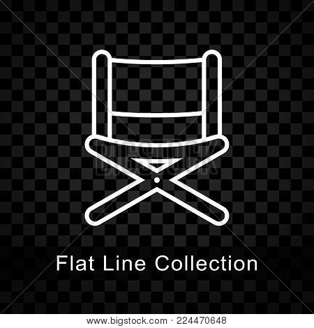 Illustration of chair icon on checkered background