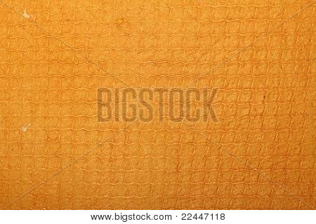 orange handmade art paper with abstract pattern