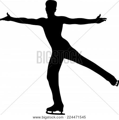 dancing man skating in figure skating competition
