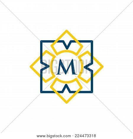 Vintage old style logo icon monogram. Letter  M logo. Royal hotel, Premium boutique, Fashion logo, Super logo, VIP logo. M letter logo, Premium quality logo, Lawyer logo. M letter logo icon eps8,eps10